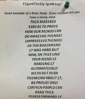 Kannst du diese Zahlen als Text lesen?
